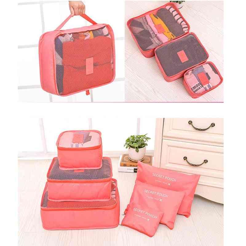Travel Organizer Storage Bag/pouch 6pcs Set - Clothes Organizer Bags, Suitcase Home Closet Bags