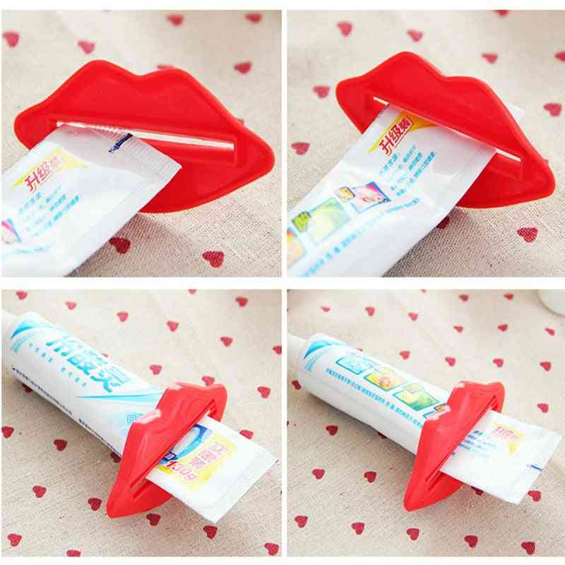 Lip Design Toothpaste Tube Squeezer - Multi Purpose Extrusion Device For Gels, Cream And Lotion