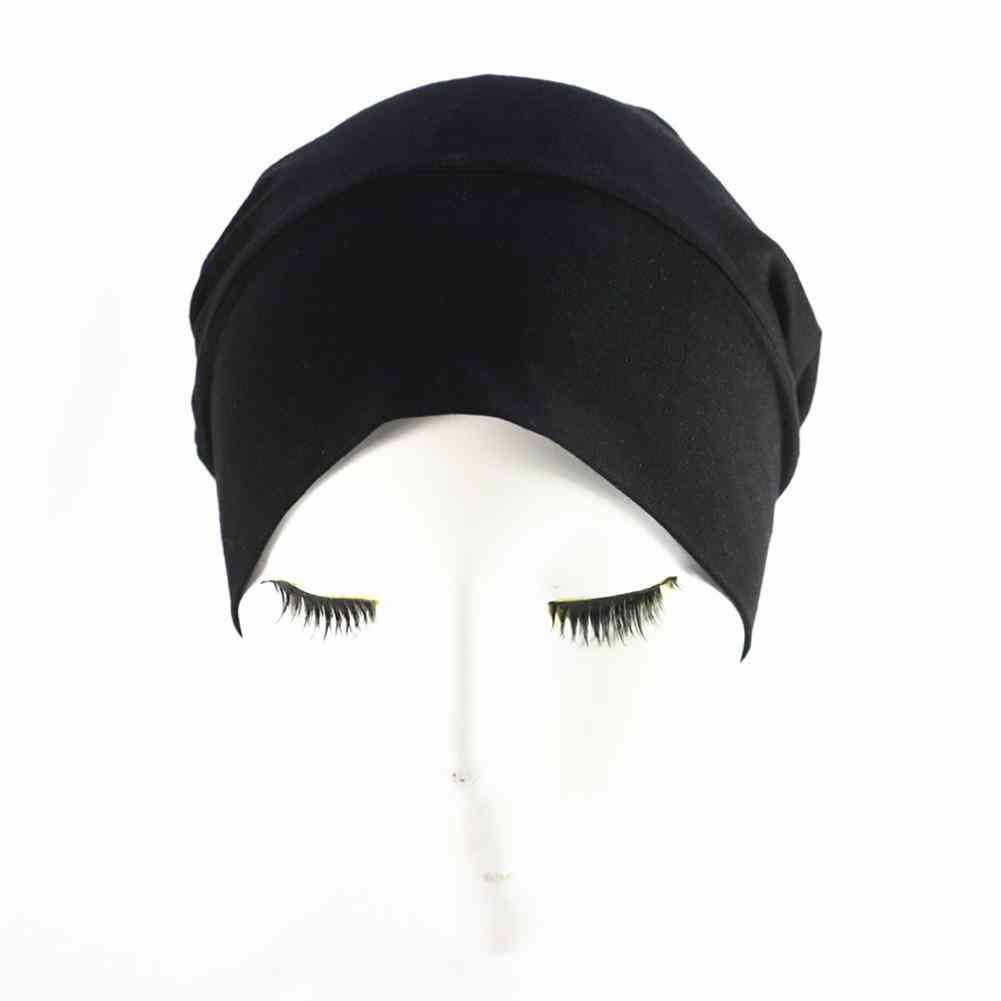 Women's Satin, Solid Wide Band, Sleeping Hat For Hair Care