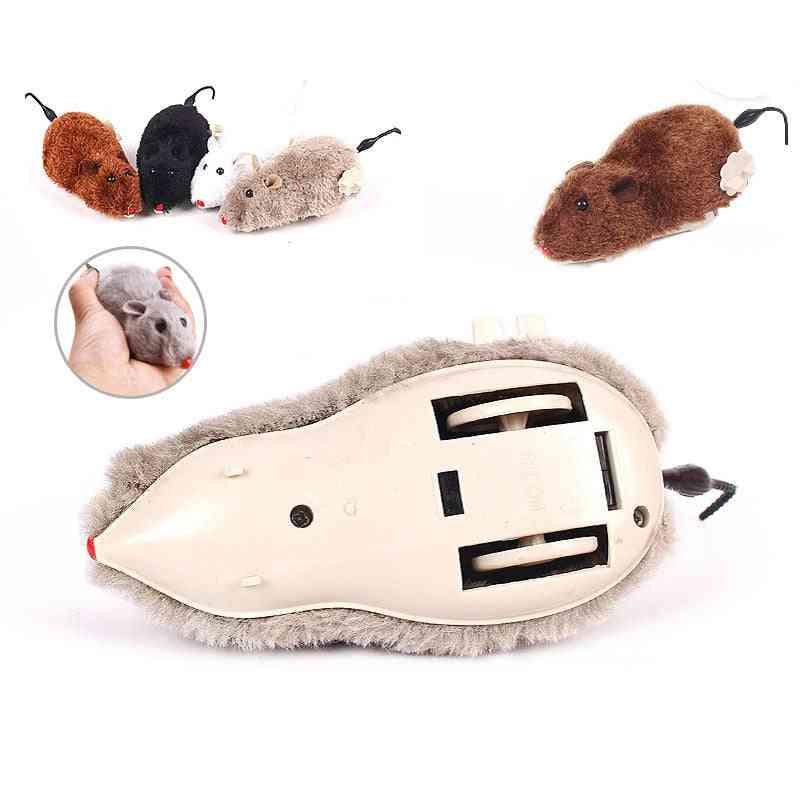Creative Clockwork Spring Power Plush Mouse Toy