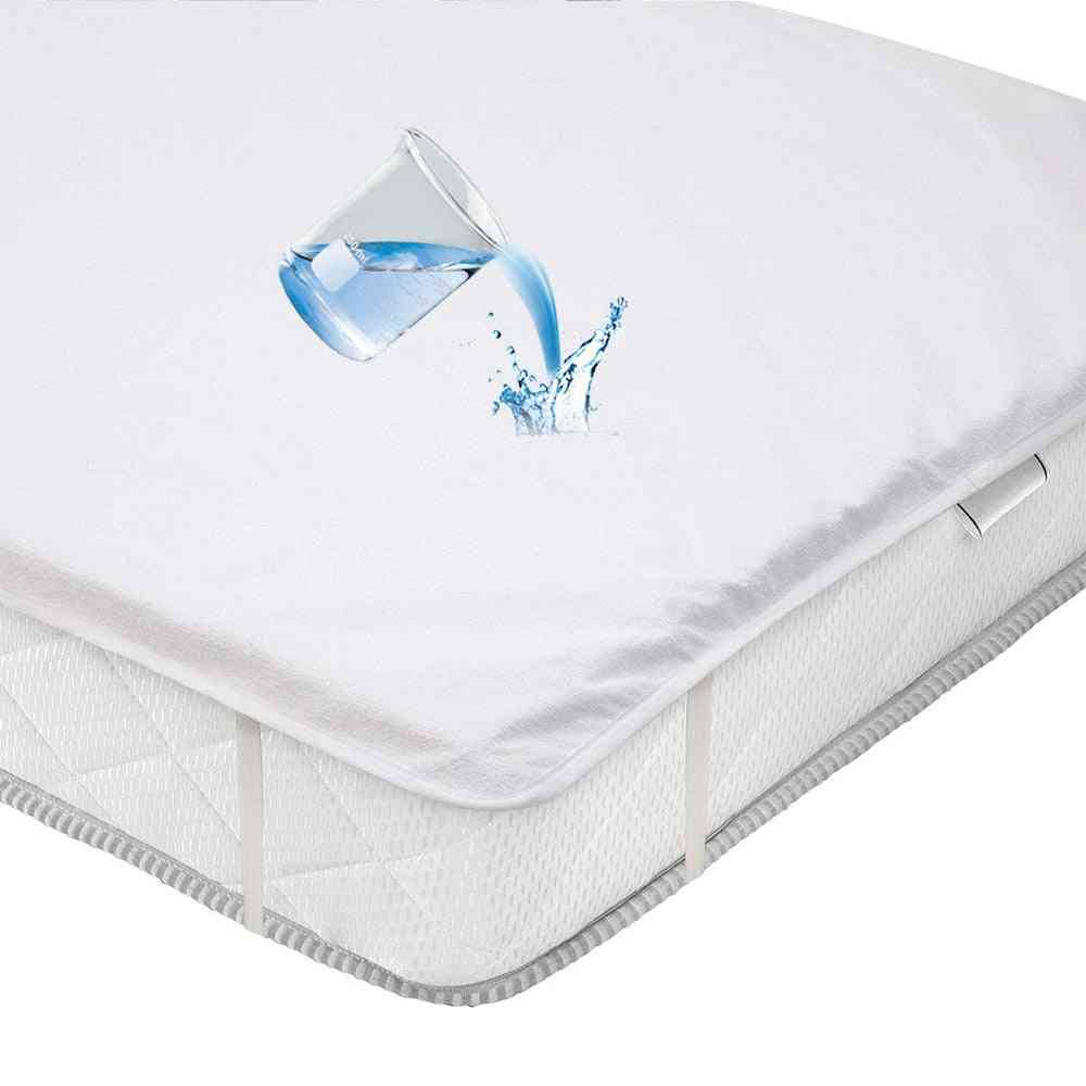 All Size Anti Mites Waterproof Mattress Pad, Cover, Protector For Bed