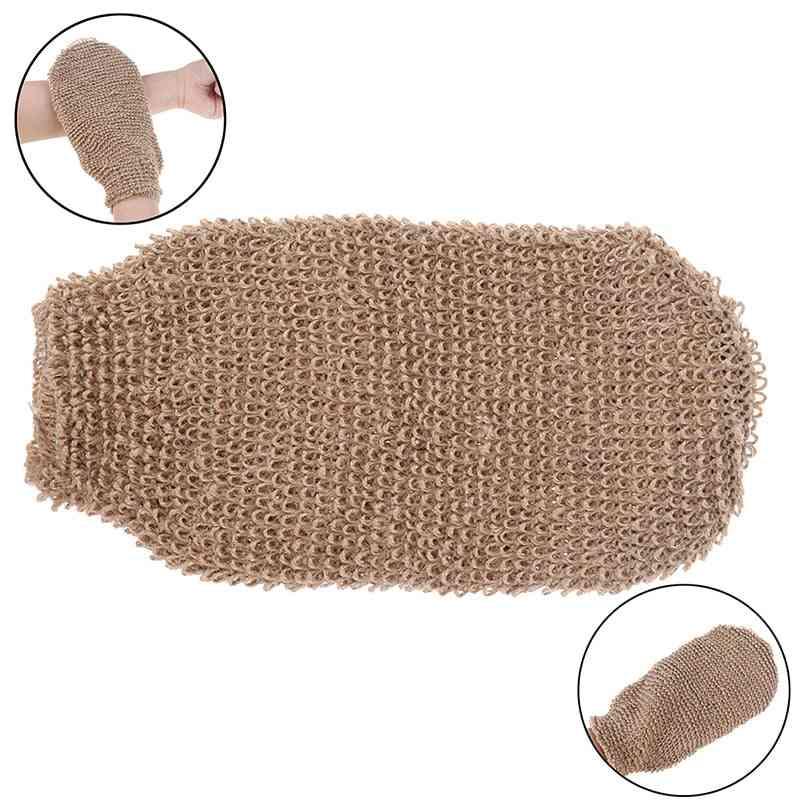 Fibre Bath Gloves Exfoliating Skin Wash Foam Towel Body Cleaning Towel Sponges