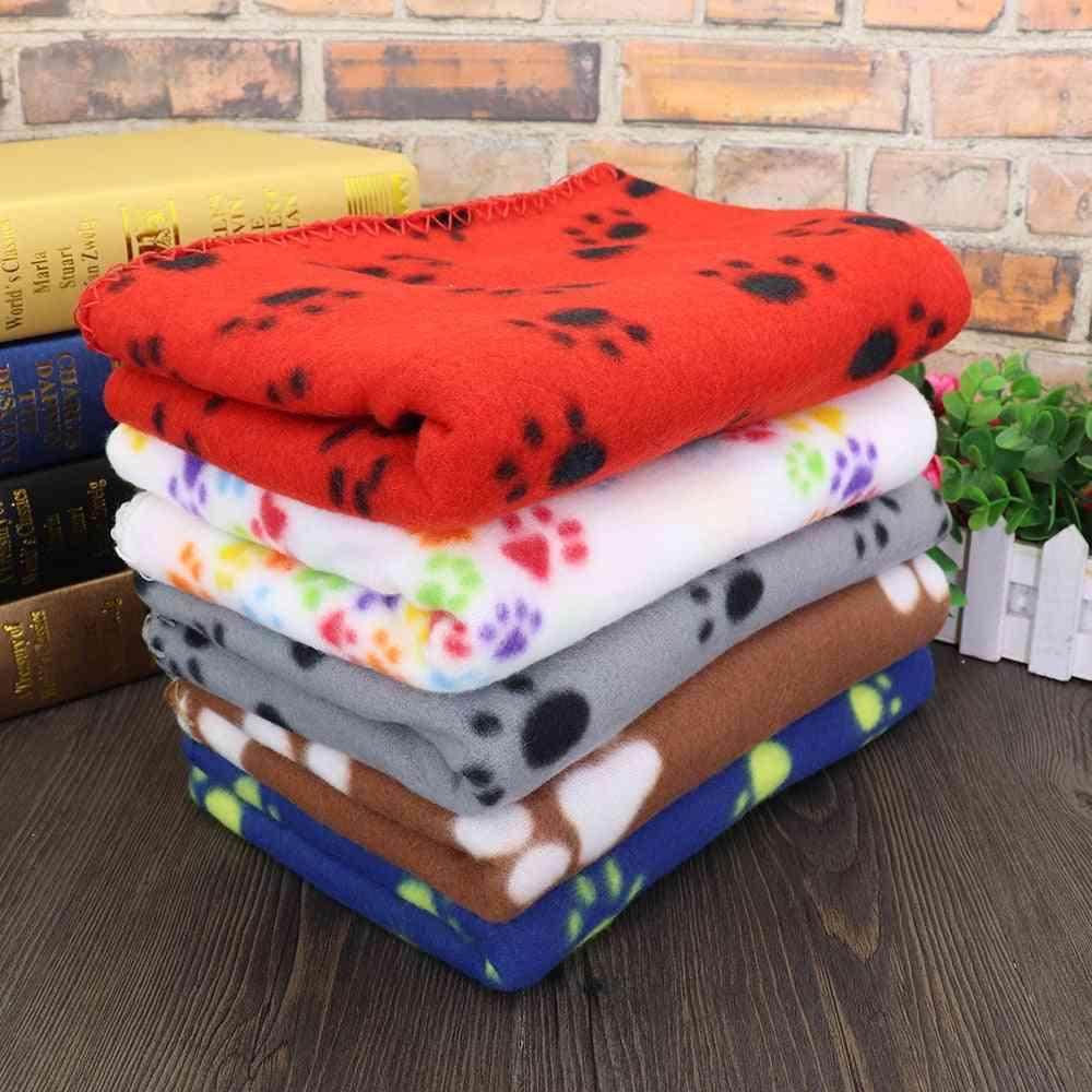 Soft Cute Dog Blanket Winter Warm Cat Dog Bed Mat Print Sleeping Mattress Small Medium Large Dogs Fleece Pet Supplies