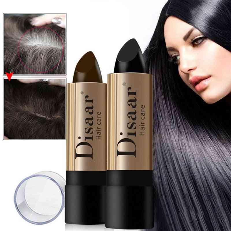 Black Brown Waterproof Hair Perm - Hair Color Pen Lasting Fast Temporary Hair Dye