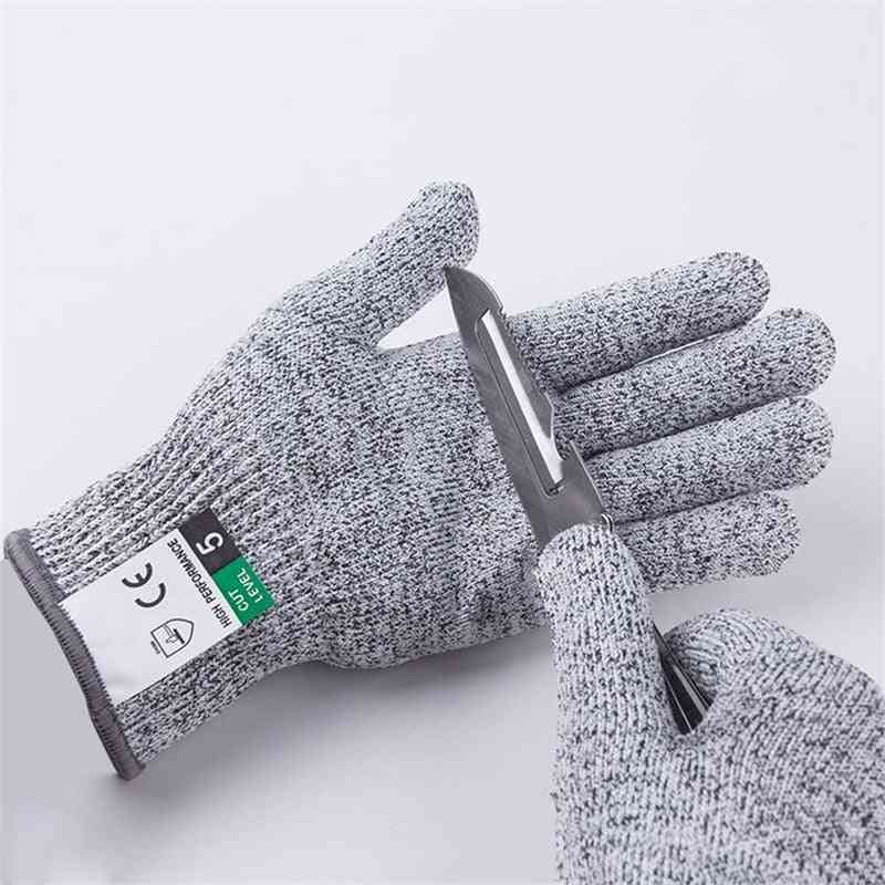 Products Non-coated Glass Fiber, Cut Proof, Stab Resistant Glove-level 5 For Kitchen, Butchers, Oyster Shucking And Gardening