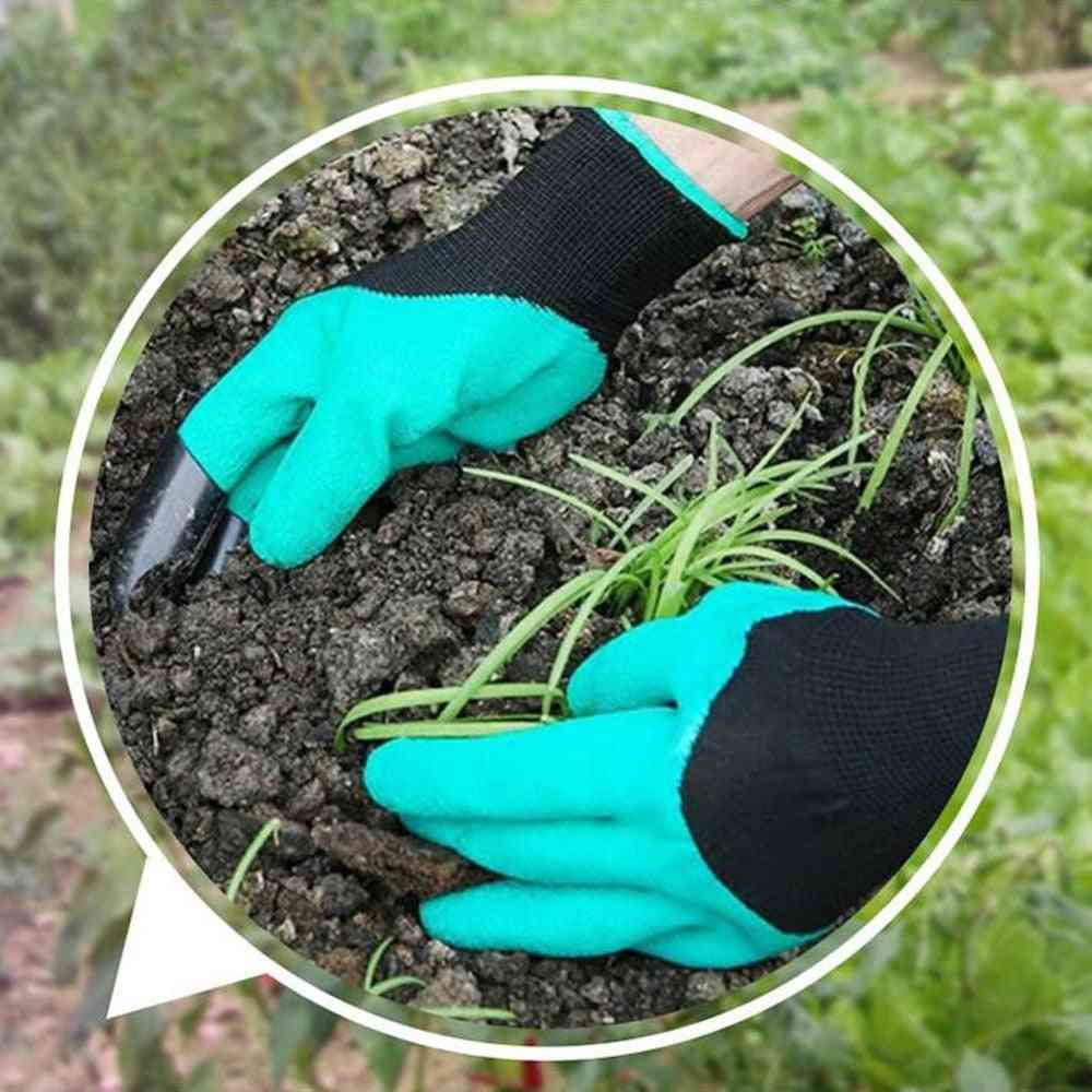 Garden Gloves With Fingertips Claws For Gardening, Digging, Planting, Pruning - Mittens Digging Gloves