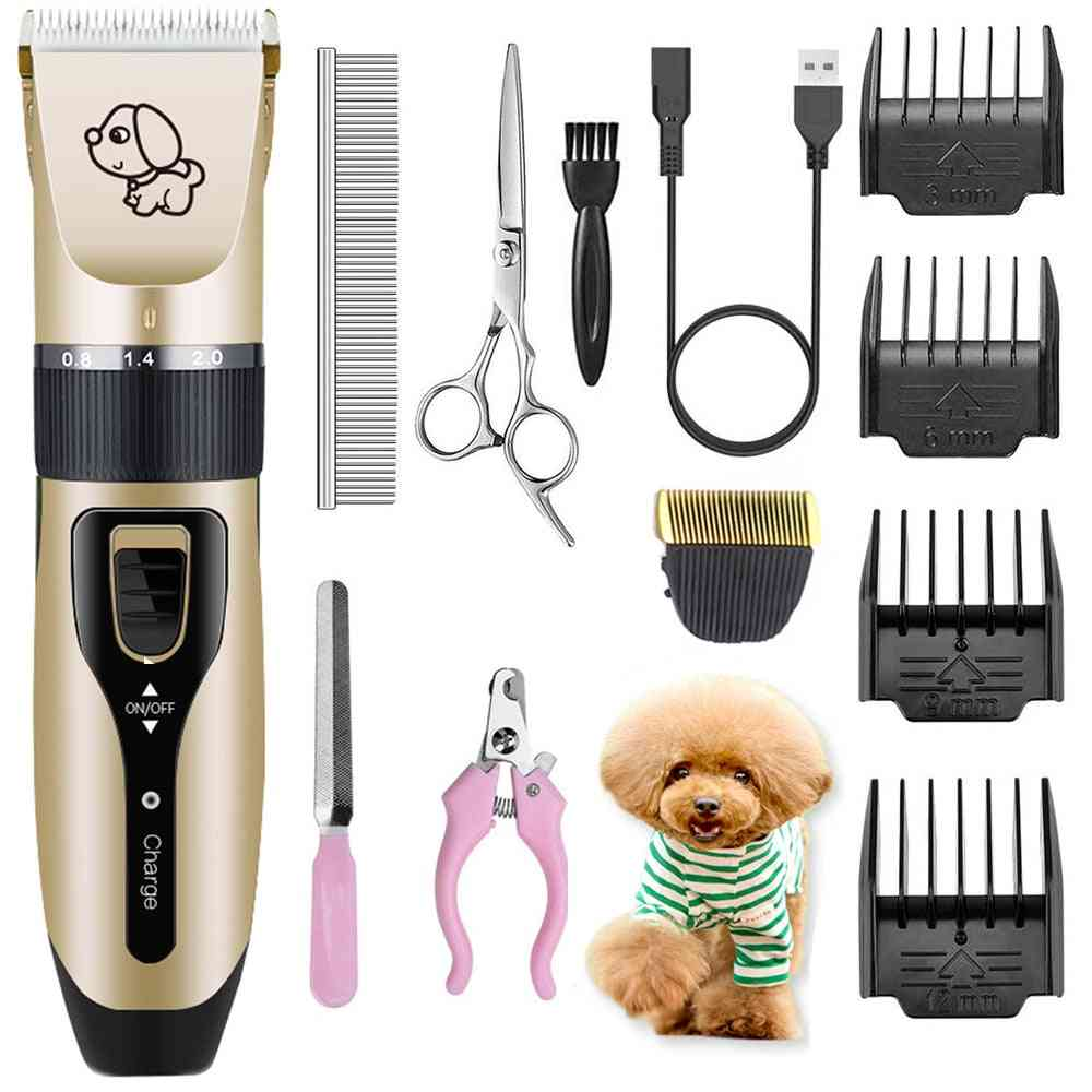 Electrical Dog Hair Trimmer Usb Charging Clipper- Rechargeable  Remover Grooming Machine