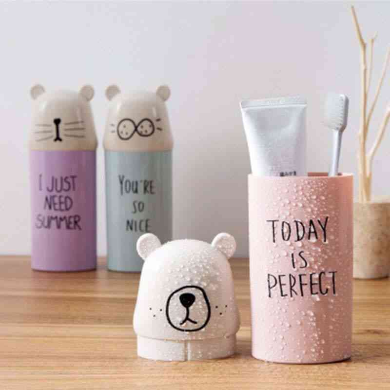 Cute Design Portable Travel Toothbrush Cup