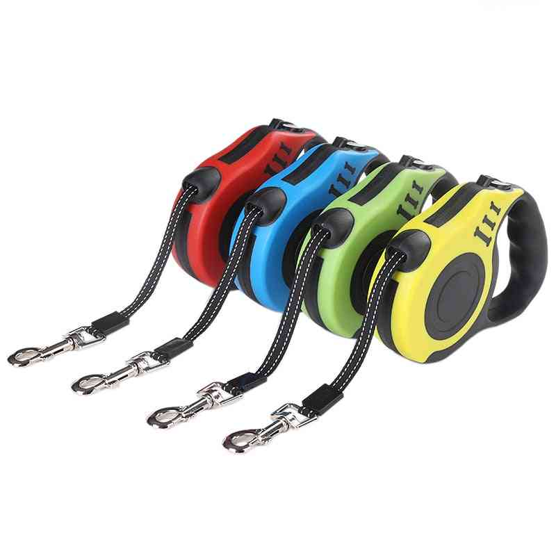 Durable, Automatic And Retractable Nylon Leads For Pets