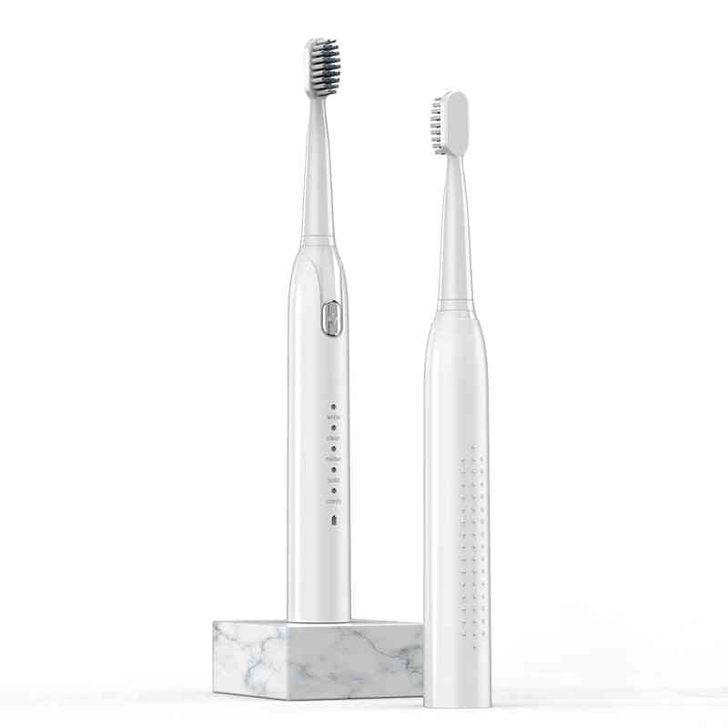 Waterproof And Automatic Toothbrush - Rechargeable, Electric Brushes With Brush Heads