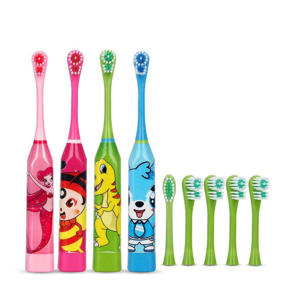 Hot Selling Cartoon Pattern Electric Toothbrush For - Double-sided Teeth Brush Heads With Soft Replacement Heads