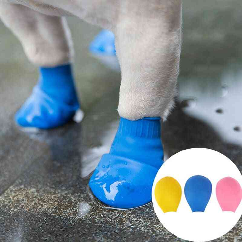 Waterproof Portable Balloon Type Rubber Rain Boots For Dogs