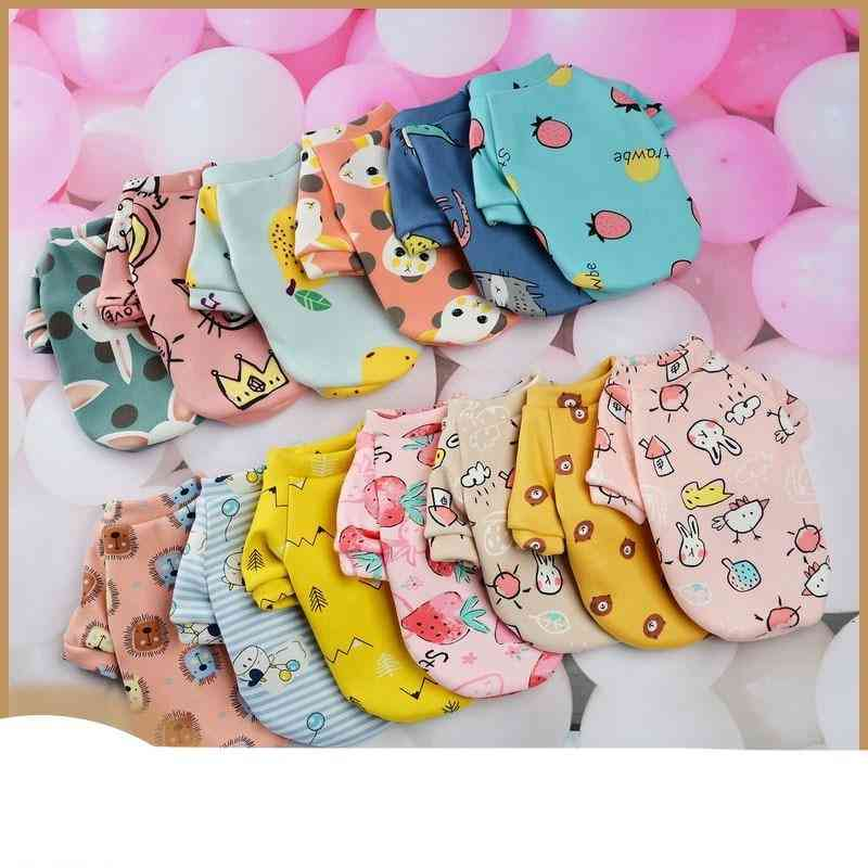 Winter Warm Soft Cotton Cartoon Animals Pet Clothes For Small Dogs