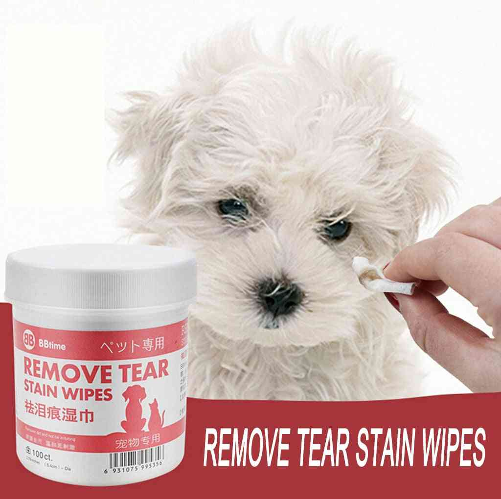 Pet Cat, Dog Remove Tear Mark Wipes - Pet Eye Cleaning Wet Paper Towel