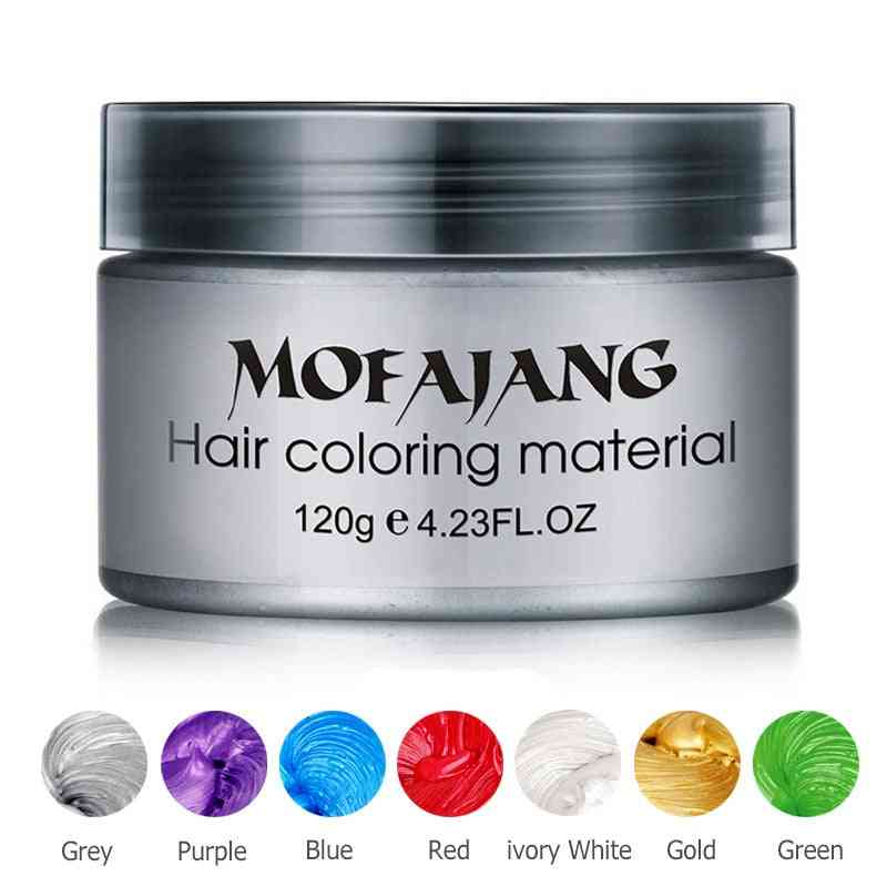 Hair Wax Styling - Silver Grey Temporary Dye Disposable, Celebrate Molding Coloring Mud Cream