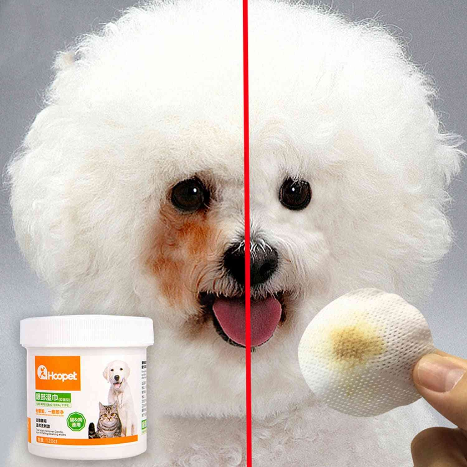 Pet Dog Cleaning Pads Facial Paper Towels Wipes - Pet Eye Wet Wipes Tear Stain Remover Wipes