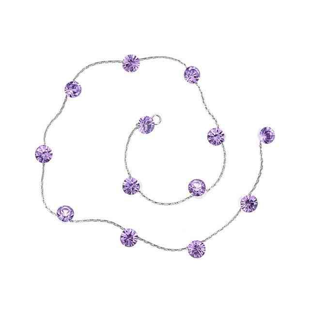 Round, Butterfly, Flower Shape, Rhinestone Hair Braid Chain For Styling