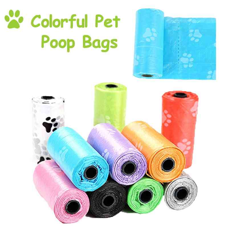 Colourful Print Pet Dog Poop Bags Roll