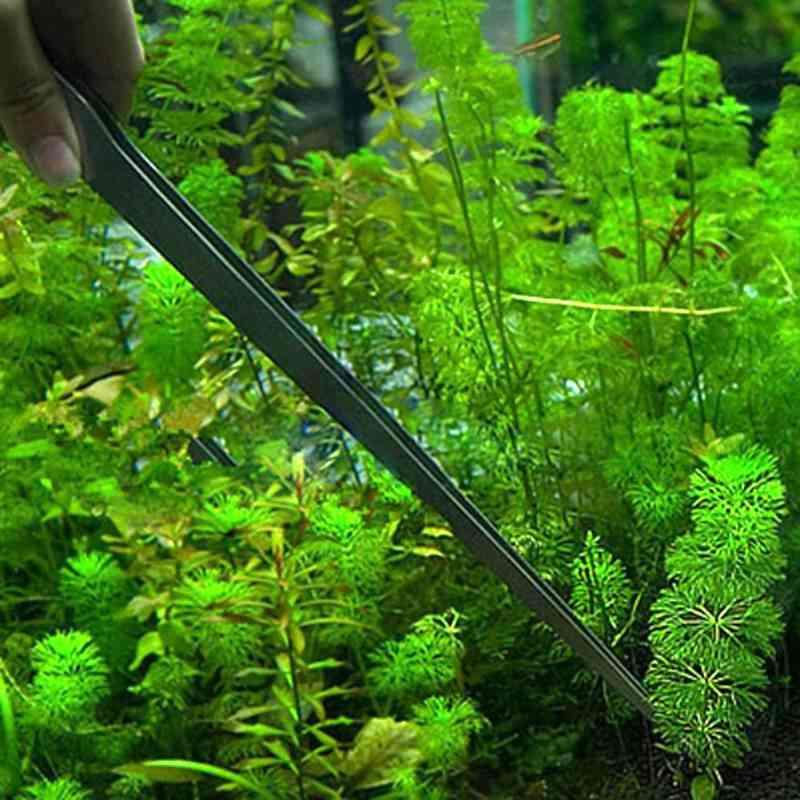 Curved Aquarium Fish Tank Cleaner Tweezers - Plant Shrimp Reef Cleaning Stainless Steel Tweezer