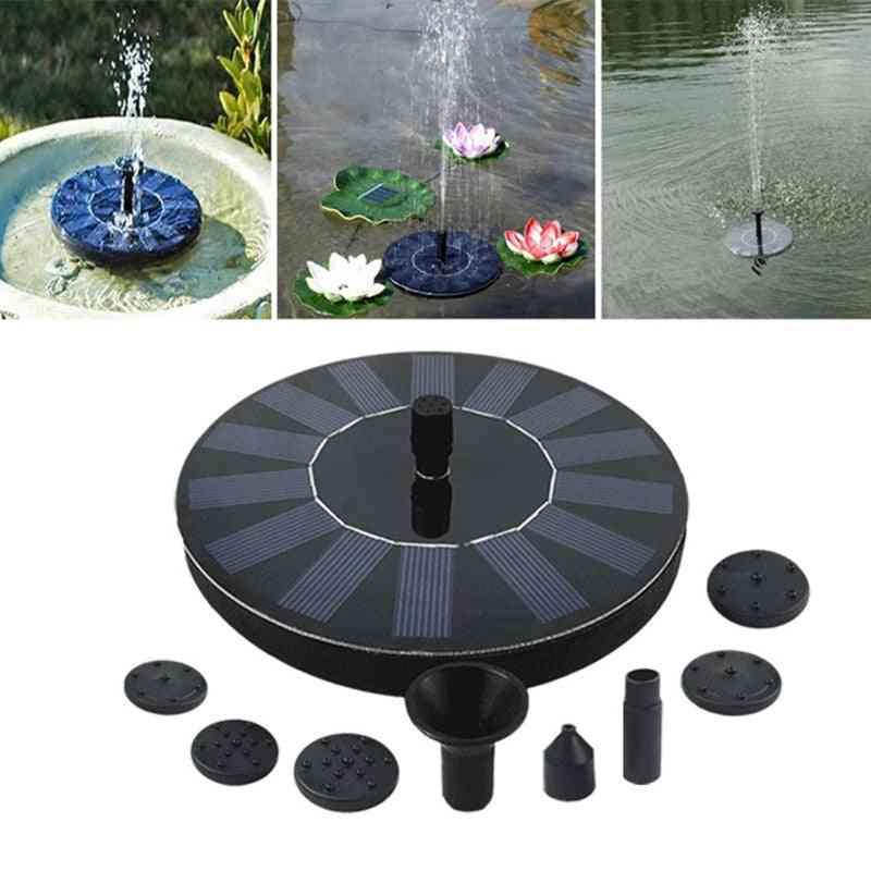 7v Solar Fountain Watering Power Solar Pump - Pool, Pond Submersible Waterfall Floating Solar Panel Water Fountain For Garden