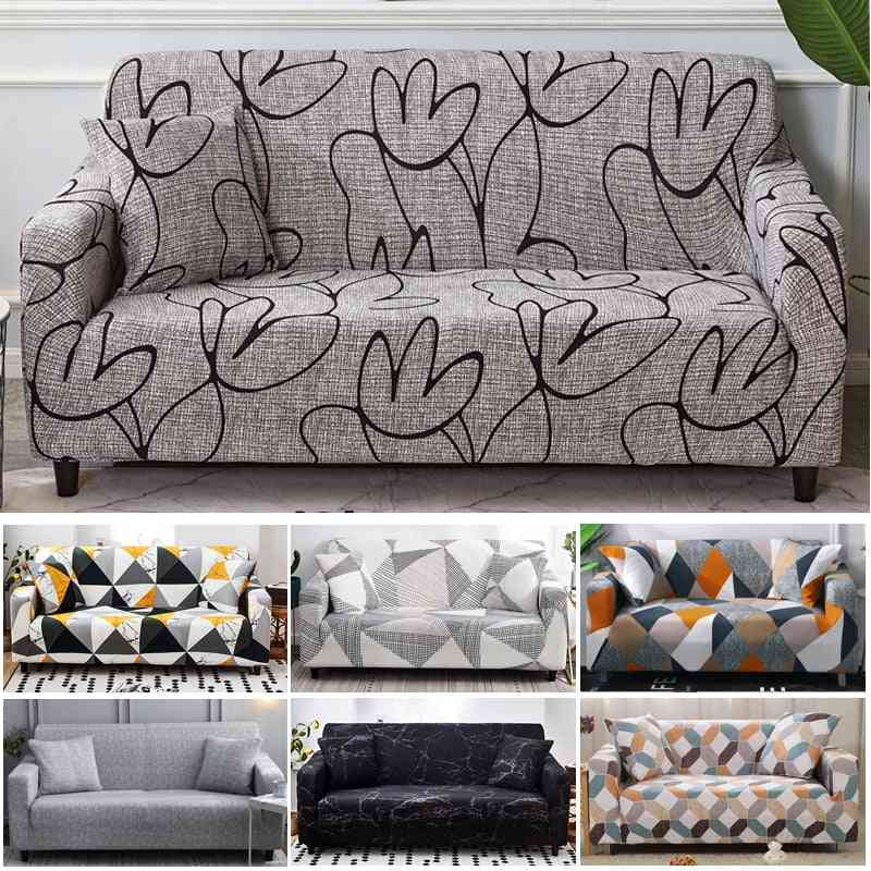 Stretch Sofa Cover, Slipcovers, Elastic For Different Shape Sofa Loveseat Chair & L-style Sofa Case