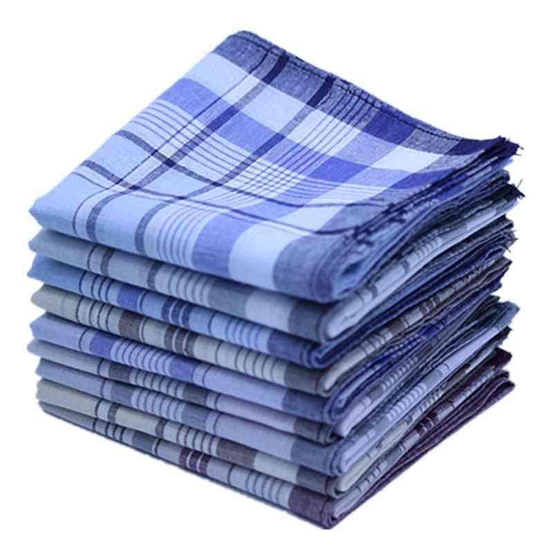 Square Plaid Stripe Handkerchiefs - Men Classic Vintage Pocket