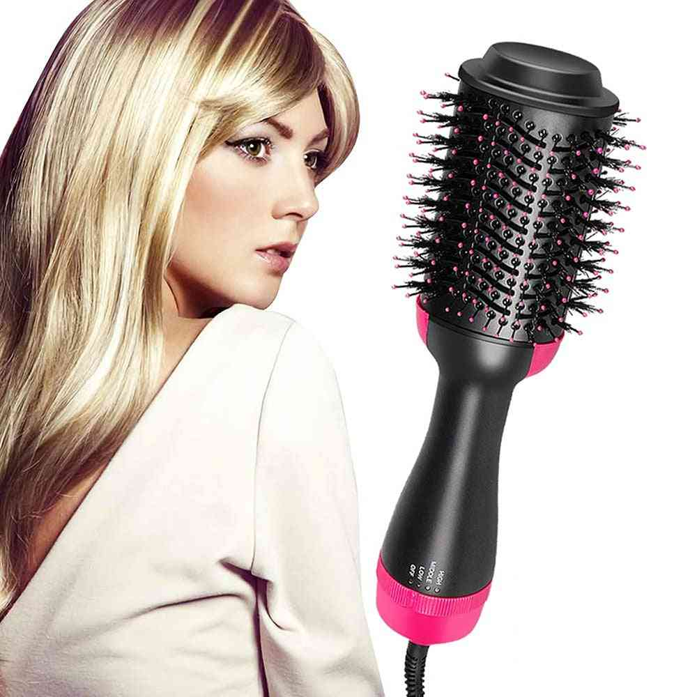 2in1 Hot Air Brush For Hair Straightener, Curling Iron Brush - Styling Tool