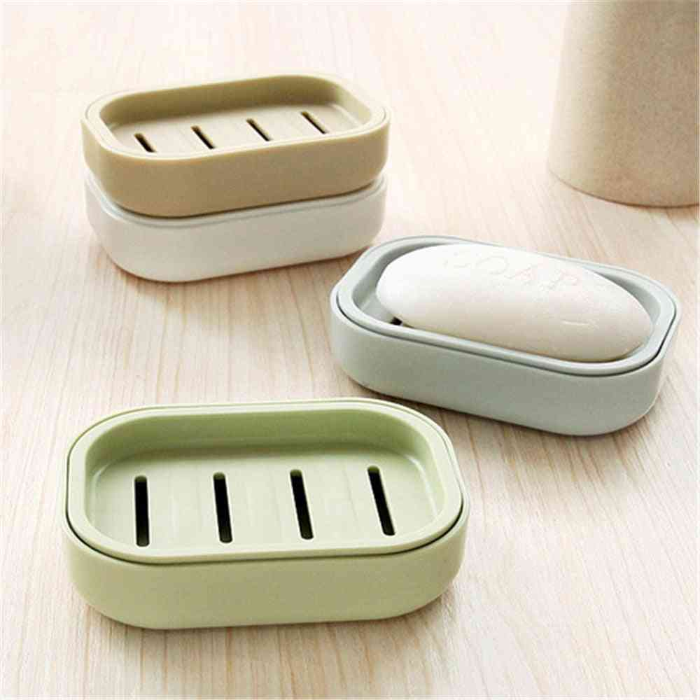 Bathroom Dish Plate Case Home Shower Travel Hiking Container Soap Box