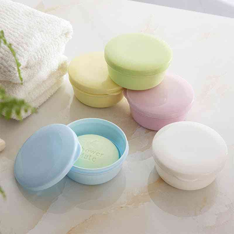 Portable Soap Dish Box Case Holder Container - Wash Shower Home Bathroom