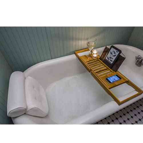 Non Slip, Bath Tub Spa Cushion, Head Rest Pillow With Suction Cups For Neck And Back