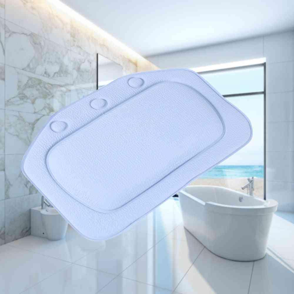 Waterproof Neck Support, Soft Headrest Bathtub Suction Cup Pillow