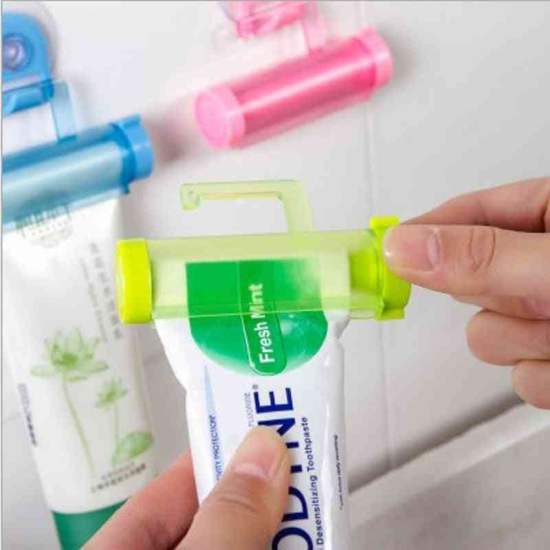 Manual Rolling Toothpaste Squeezer And Holder