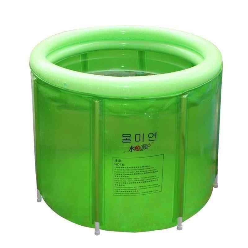 Portable Soaking Tub Gold Double Inflatable Bathtub