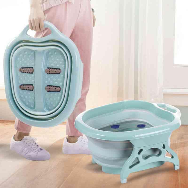 Tub Foldable Foot Spa Pedicure Buckets - Hot Water Tub Massage Bath Soak Feet