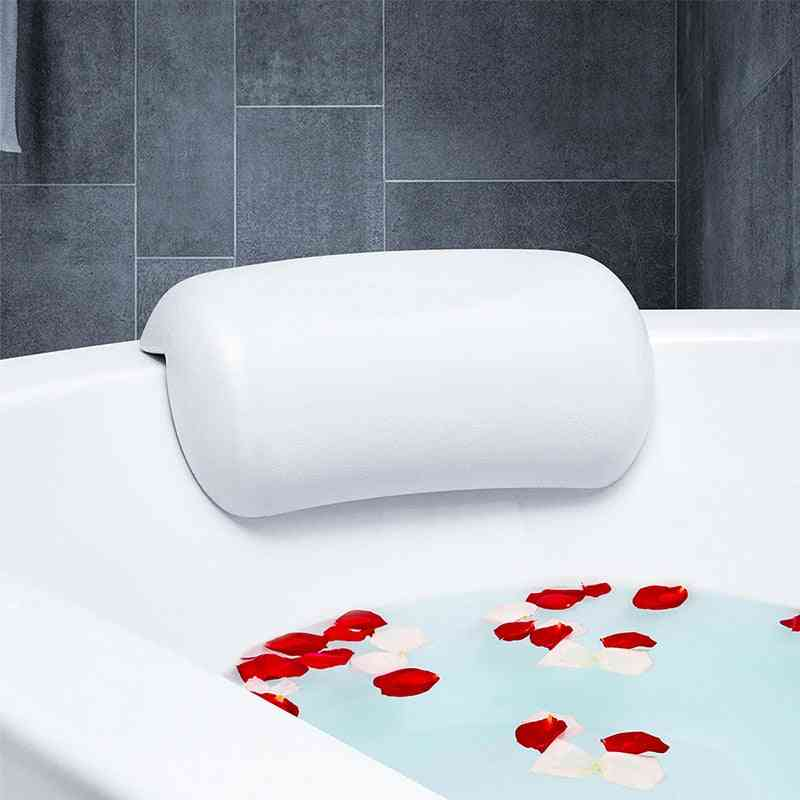 Waterproof Non Slip Spa Soft Bath Pillow, Headrest With Suction Cups