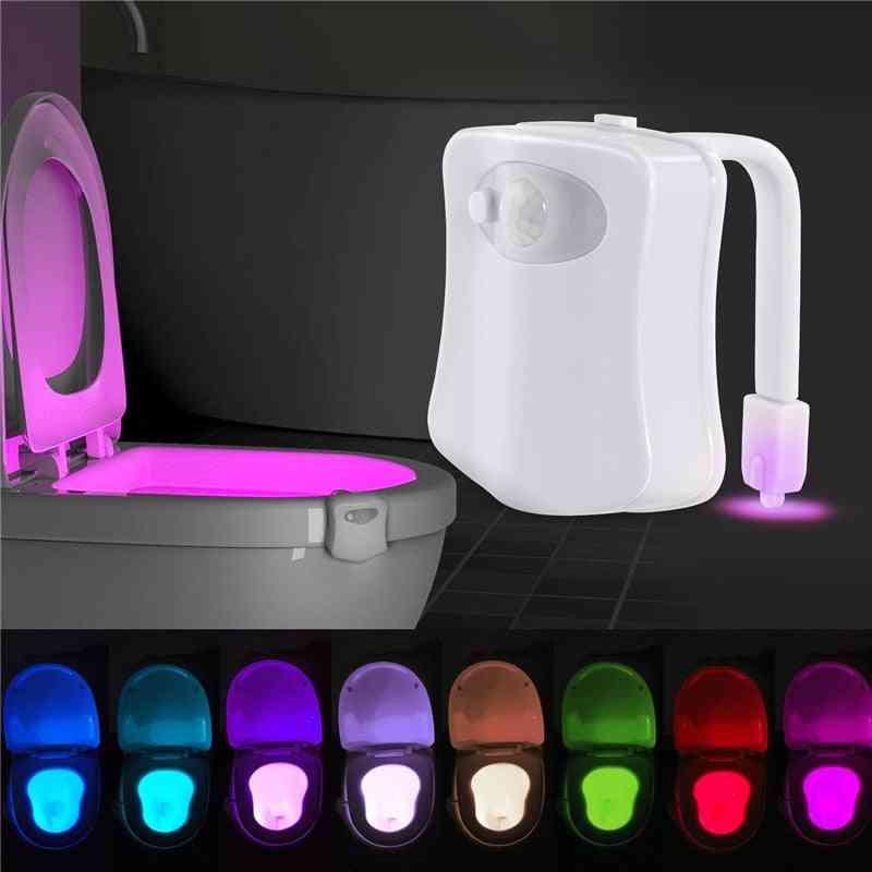 Infrared Induction Light Washroom Toilet Nightlight Led Toilet Smart Pir Motion Sensor For Bathroom Wc Toilet Seat Light