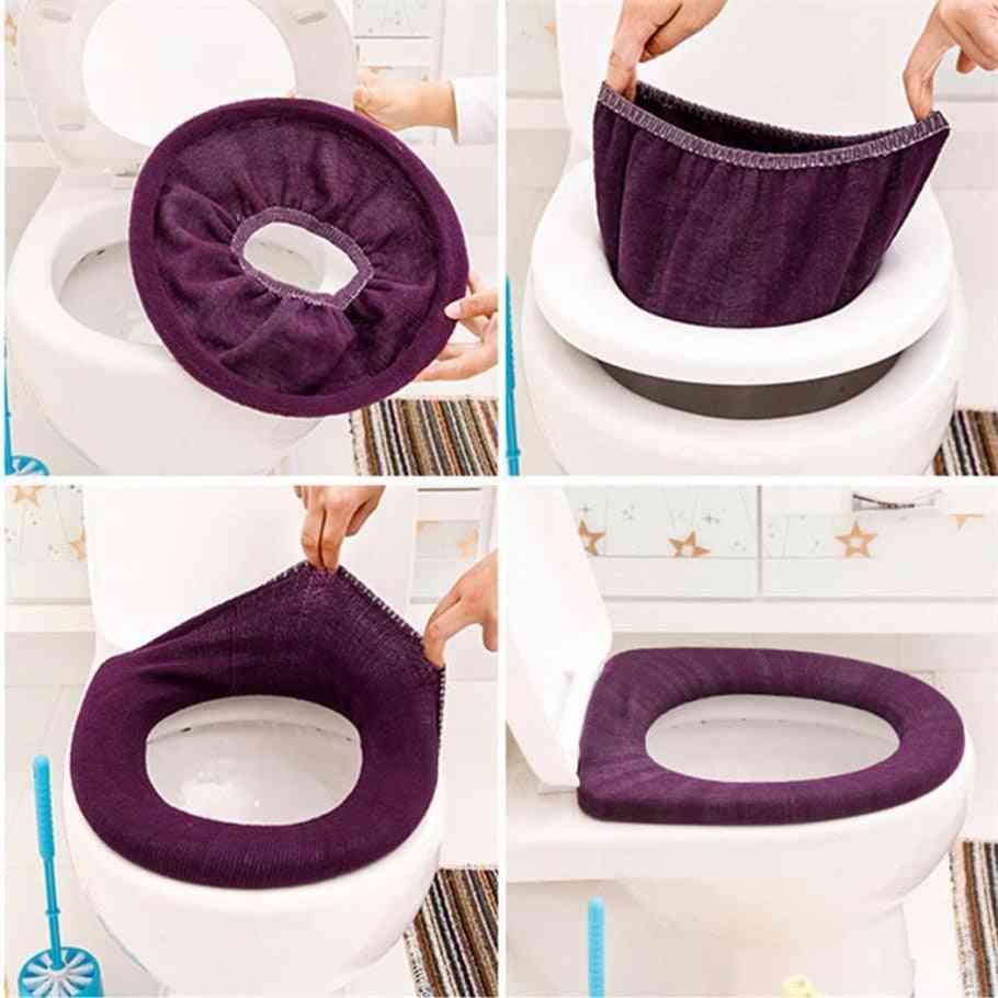 Warm Soft Toilet Cover Seat Lid Pad Bathroom Closestool Protector Bathroom Accessories Set Toilet Seat Cover Mat toilet Cover