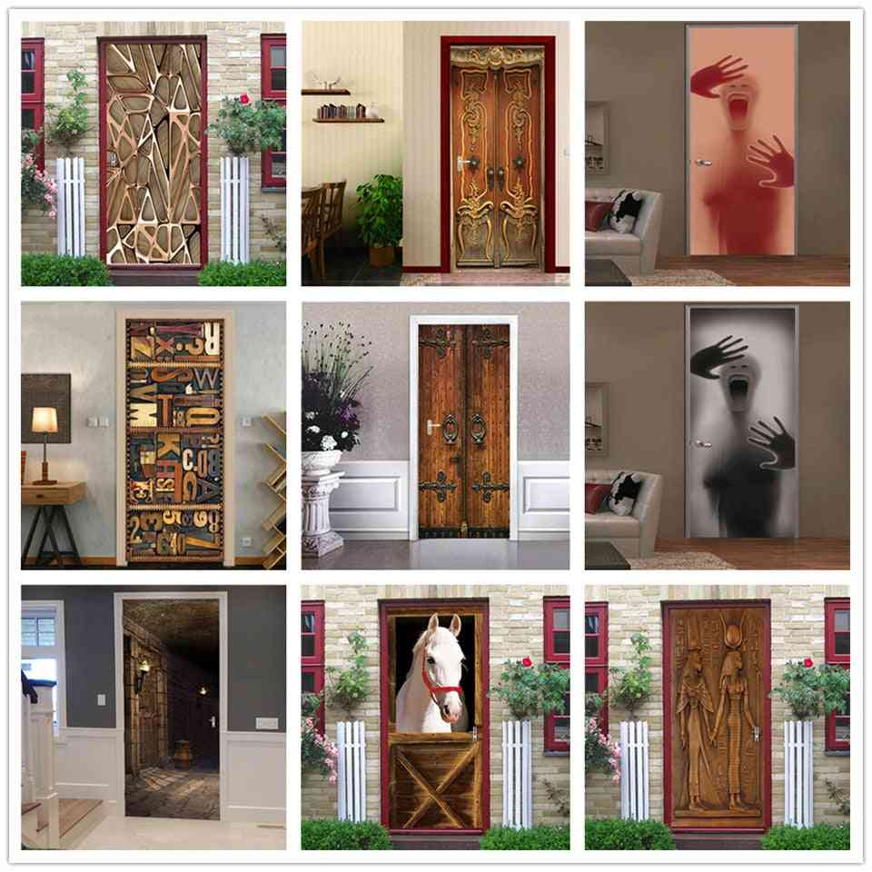 Pvc Self-adhesive Waterproof 3d Removable Home Decor Wine Shelf Decals Wall Art Mural