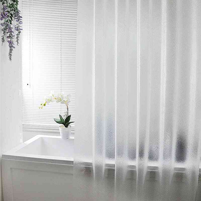 Waterproof, Translucent And Brushed Shower Curtain-punch Free