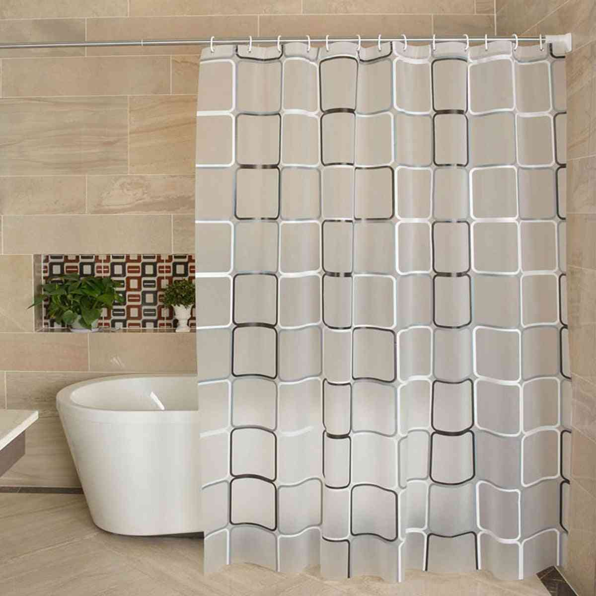 Waterproof Shower Curtain Liner Transparent Mildew Curtain Bath For Bathroom Shower Curtain With High-quality Hooks