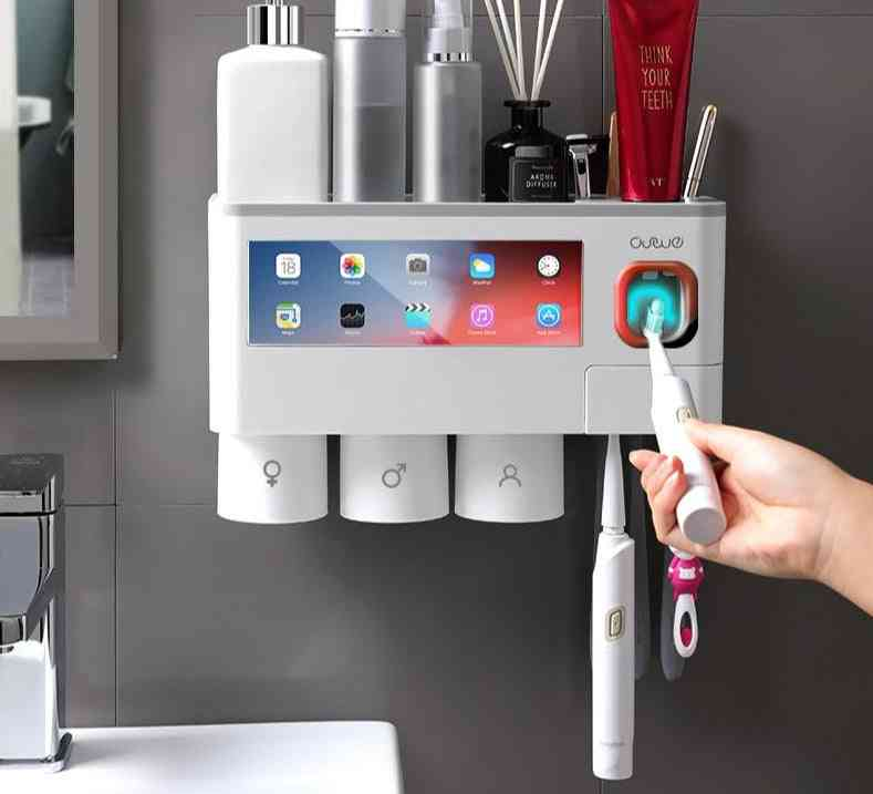 Wall Mounted-automatic Toothpaste Dispenser And Storage Rack