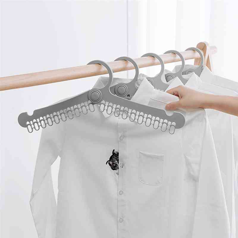 Multifunctional, Portable And Folding Clothes Drying Hanger