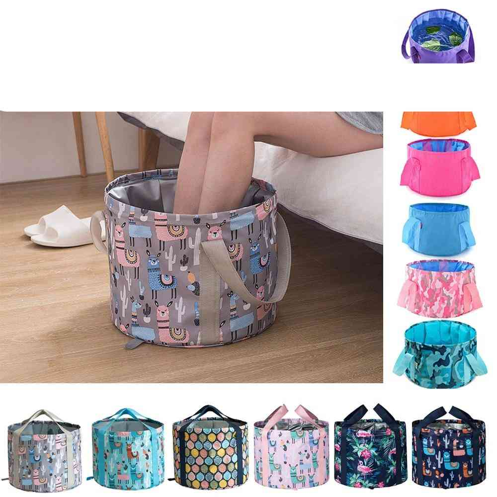Portable Bath Bag Wash Basin -water Bucket With Large Capacity