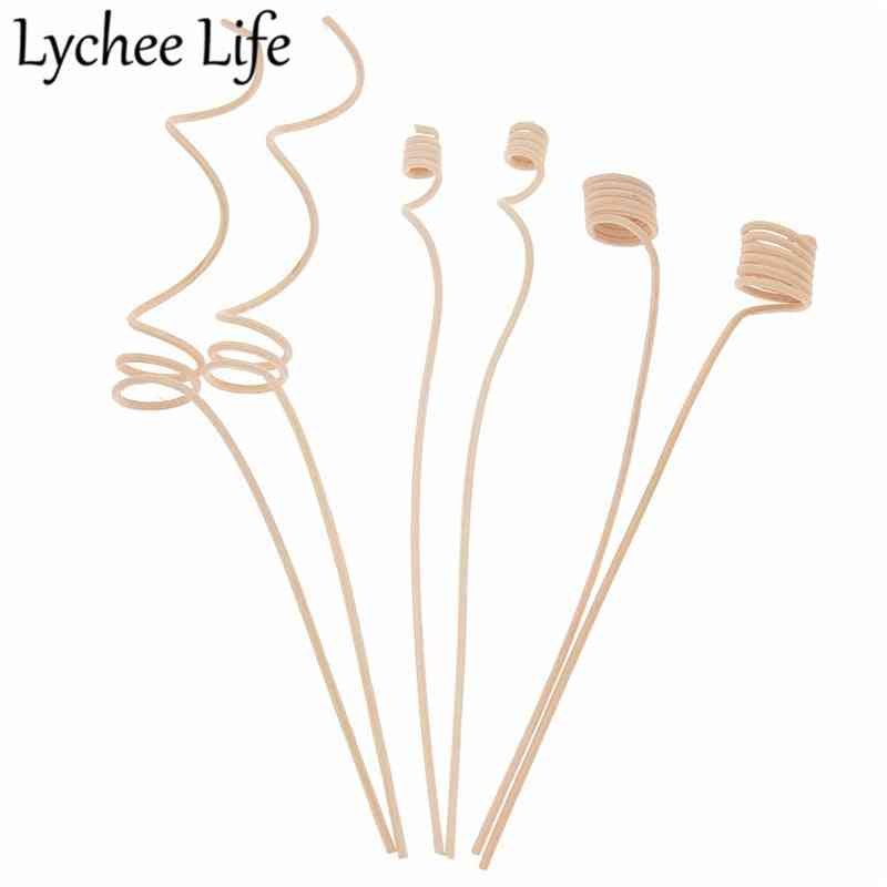 10pcs Reed Diffuser Replacement Stick Wood Rattan Reeds Through Flowers Diffusers Accessories