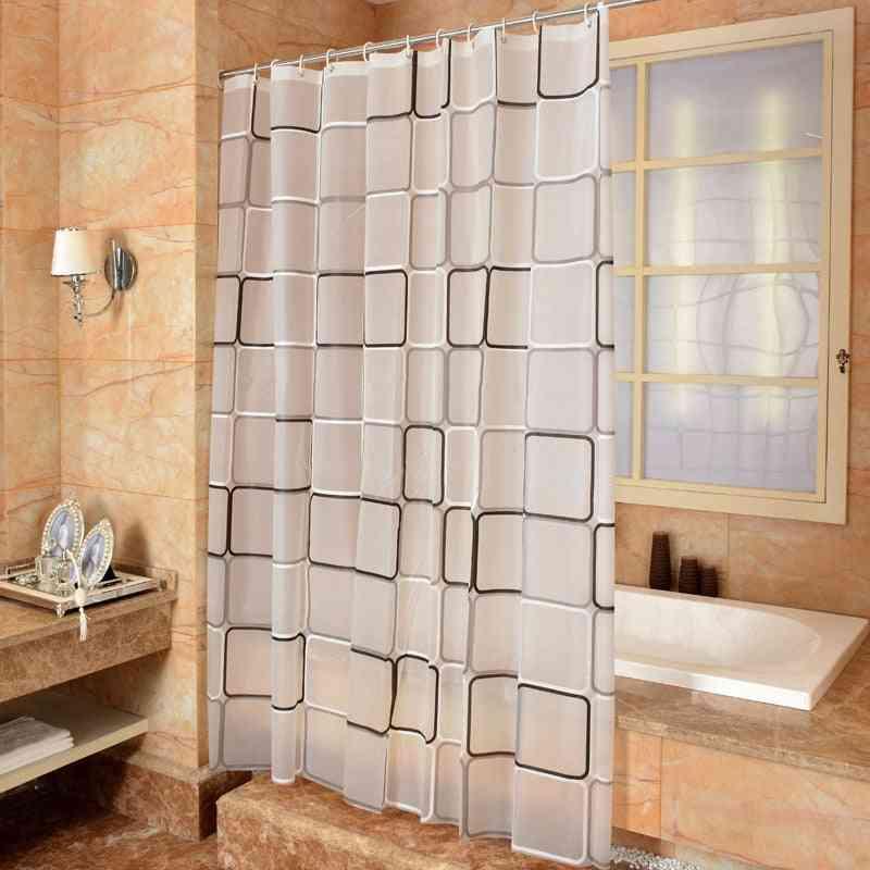 Bathroom Shower Curtain - 3d Waterproof, Mildew Curtain