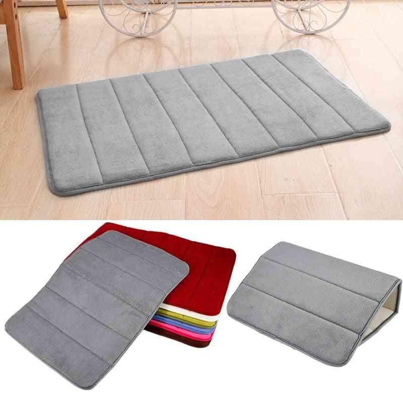 Super Absorbent, Non Slip, Memory Foam Rug For Bathroom, Living Room