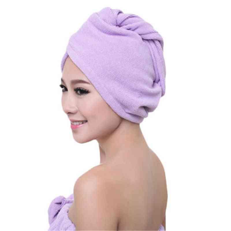 Microfiber Soft Shower Cap / Hat - Bath Towel For Lady's