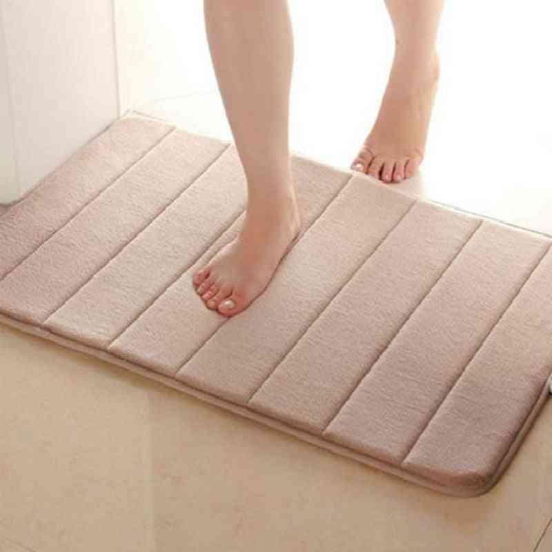 Useful Horizontal Stripes Rug - Absorbent Nonslip Bath Mats For Bathroom