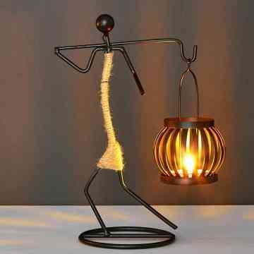 Nordic Metal Abstract Character Sculpture Candle Holder - Home Decor Handmade Figurines