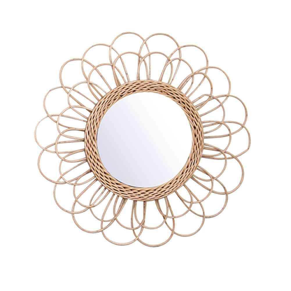 Rattan Dressing Innovative Art Deco Round Mirror
